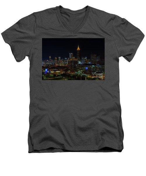 Atlanta Nights Men's V-Neck T-Shirt