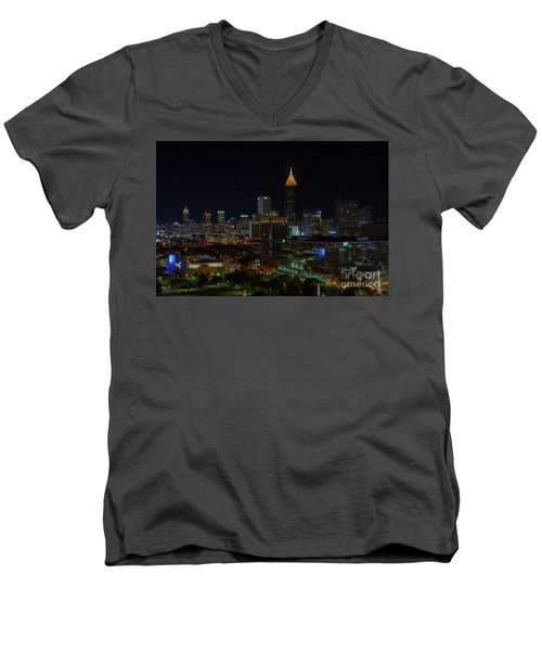 Atlanta Nights Men's V-Neck T-Shirt