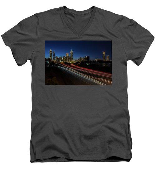 Atlanta Skyline 2 Men's V-Neck T-Shirt