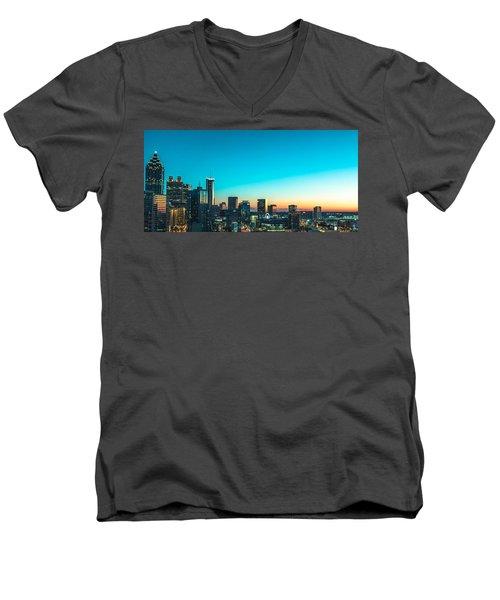 Atlanta Tonight Men's V-Neck T-Shirt