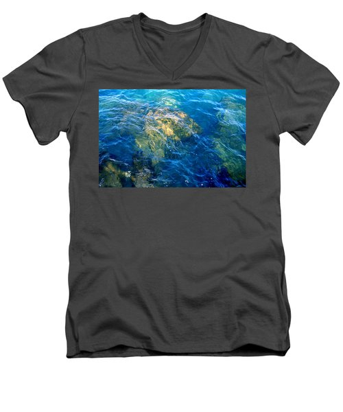 Atlantis Men's V-Neck T-Shirt by Jamie Lynn