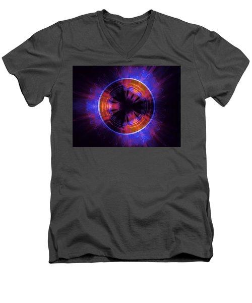 atmospheric Burner with Gas Flames Men's V-Neck T-Shirt