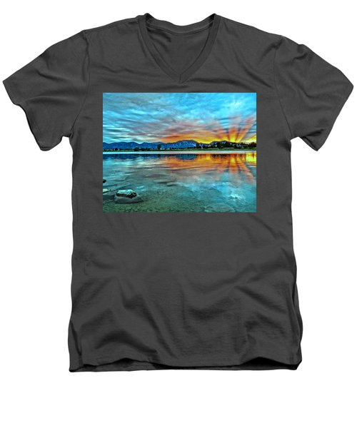 Men's V-Neck T-Shirt featuring the photograph Atom  by Eric Dee