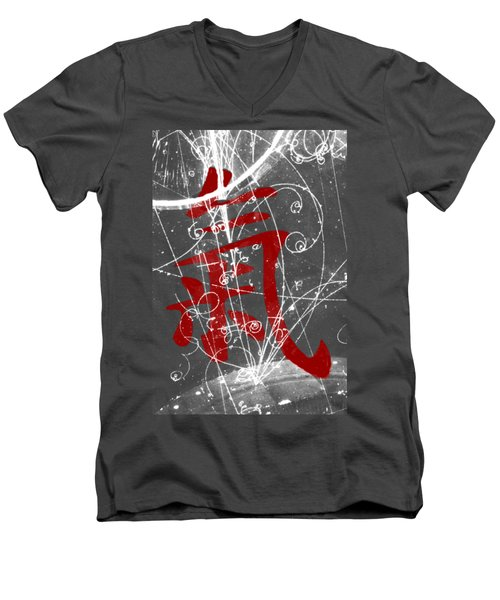 Atomic Ki Men's V-Neck T-Shirt