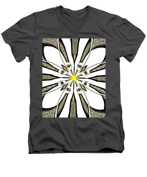 Atomic Lotus No. 3 Men's V-Neck T-Shirt