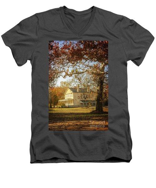 Atsion Mansion Men's V-Neck T-Shirt
