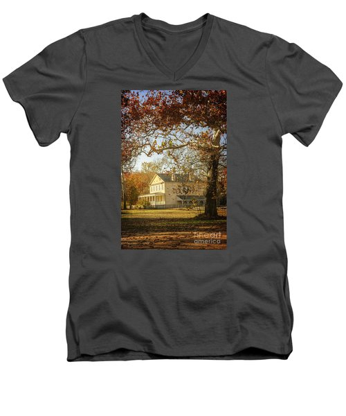 Atsion Mansion Men's V-Neck T-Shirt