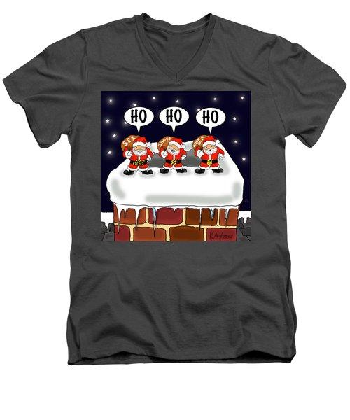 Attack Of The Mini-santas Men's V-Neck T-Shirt
