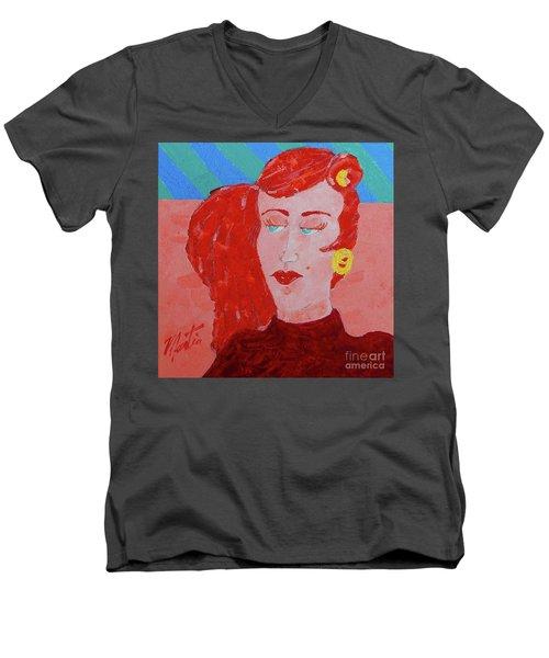 Attitudes  Men's V-Neck T-Shirt