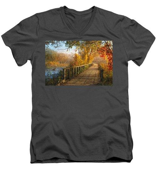 Atumn Emerging - Oil Paint Effect Men's V-Neck T-Shirt