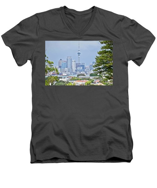 Auckland City C B D Men's V-Neck T-Shirt