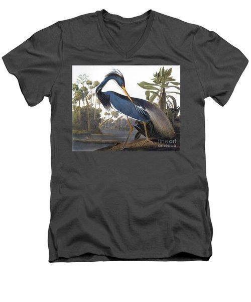 Audubon Heron, 1827 Men's V-Neck T-Shirt