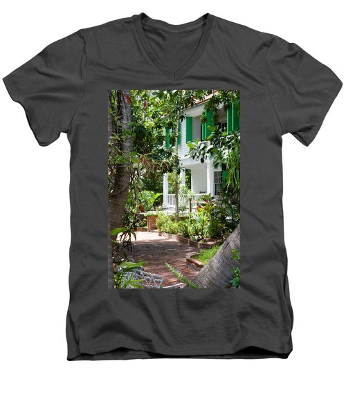 Audubon House Entranceway Men's V-Neck T-Shirt
