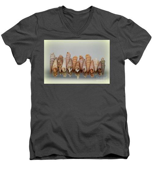 Auger Shells Men's V-Neck T-Shirt by Patti Whitten