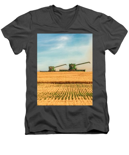Augers Out Men's V-Neck T-Shirt