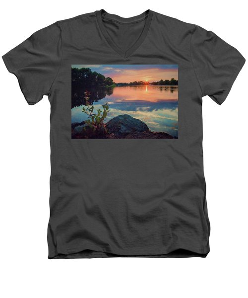 August Sunset Men's V-Neck T-Shirt