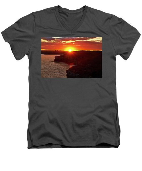 August Sunset From North Head Men's V-Neck T-Shirt