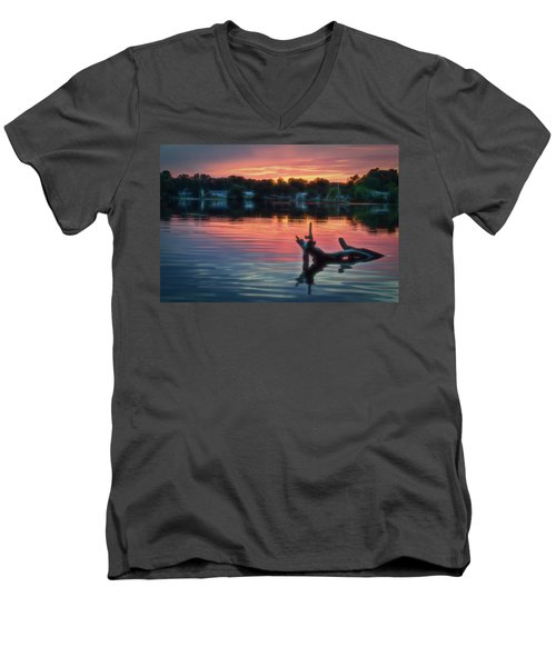 August Sunset Glow Men's V-Neck T-Shirt