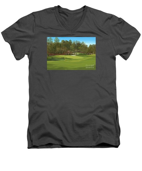 Augusta 11 And12th Hole Men's V-Neck T-Shirt