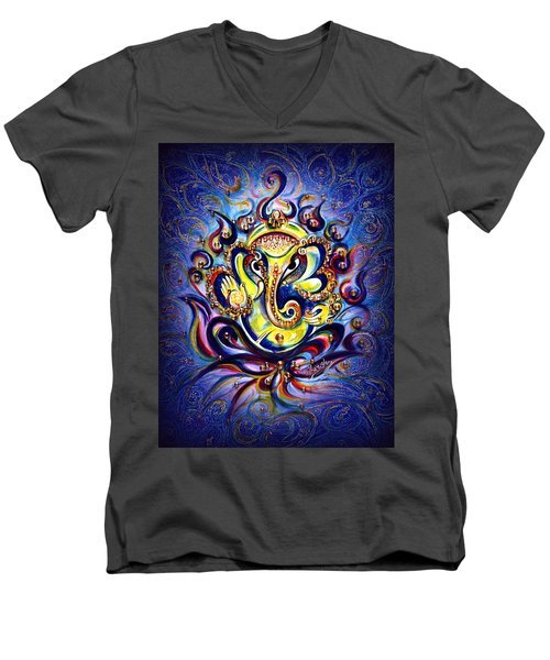 Aum Ganesha - Bliss Men's V-Neck T-Shirt