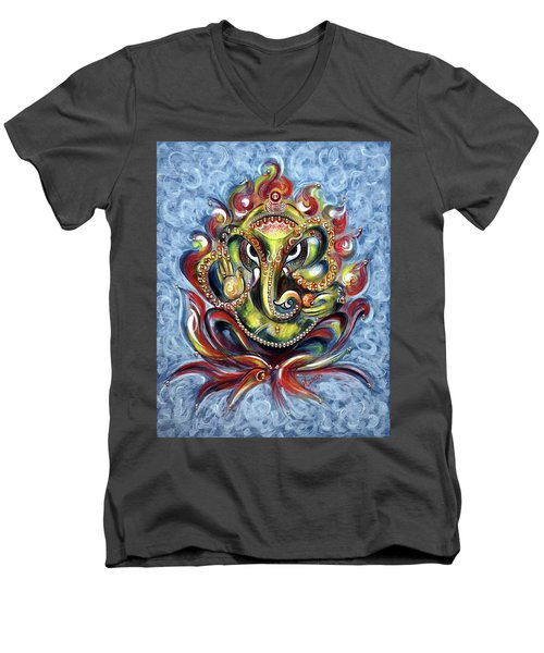 Aum Ganesha Men's V-Neck T-Shirt