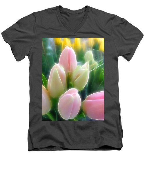 Aura Of Tulip Men's V-Neck T-Shirt