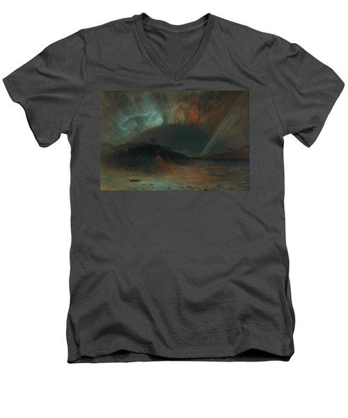 Aurora Borealis Men's V-Neck T-Shirt