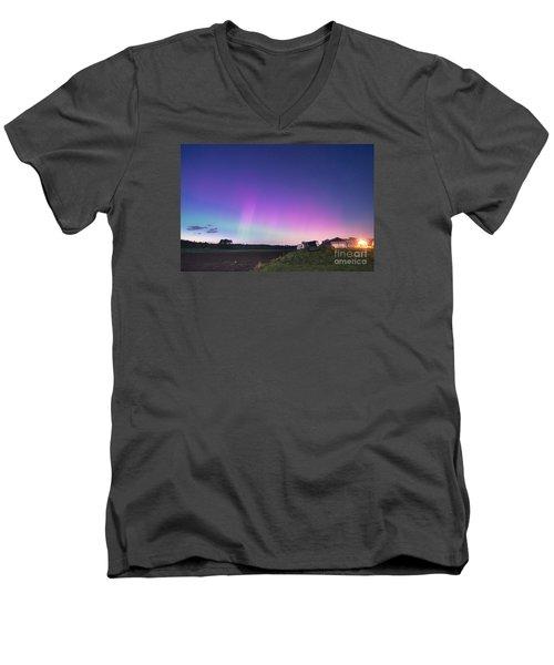 Aurora Energized Pepper Fields Men's V-Neck T-Shirt by Patrick Fennell