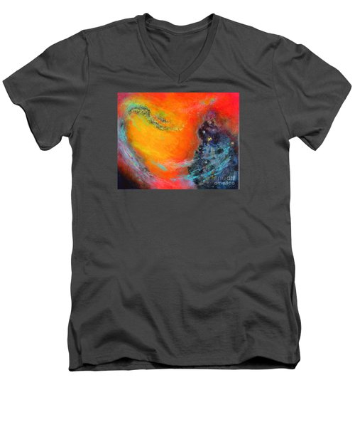 Fantasies In Space Series Painting. Aurora Galaxy Men's V-Neck T-Shirt