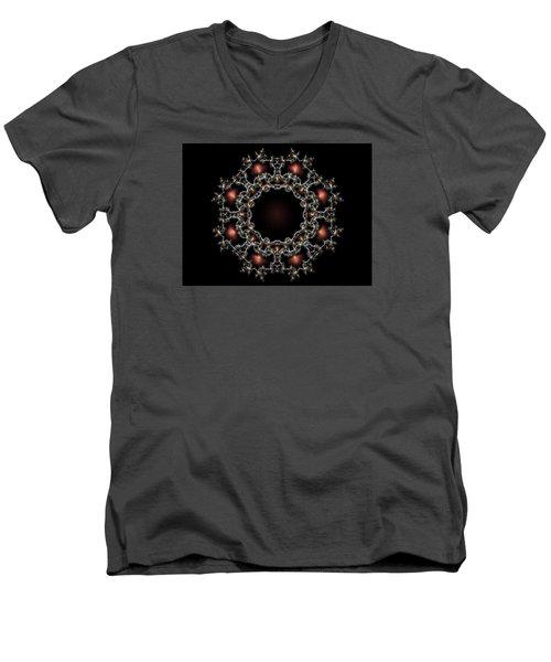 Aurora Graphics 025 Men's V-Neck T-Shirt by Larry Capra