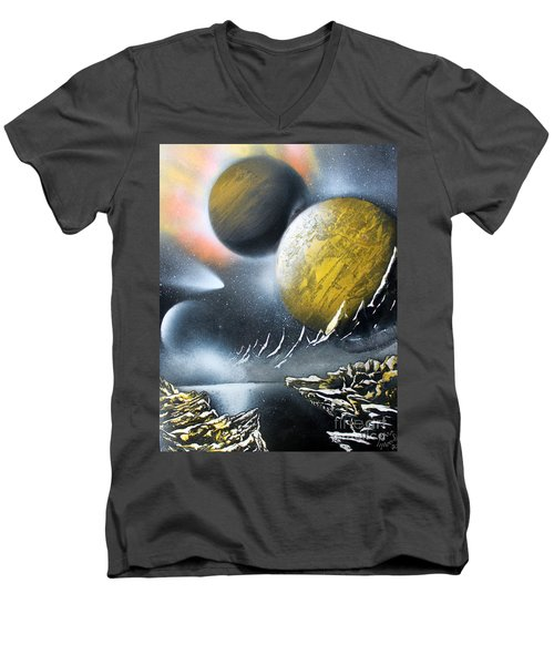 Aurora Men's V-Neck T-Shirt by Greg Moores