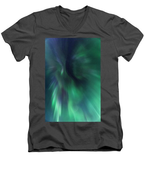 Aurora Kaleidoscope Men's V-Neck T-Shirt