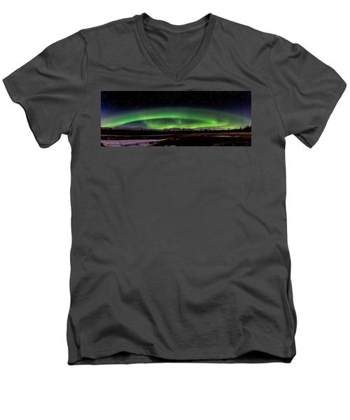 Aurora Spiral Men's V-Neck T-Shirt