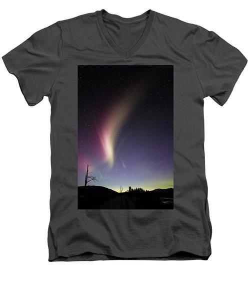 Auroral Phenomonen Known As Steve 2 Men's V-Neck T-Shirt