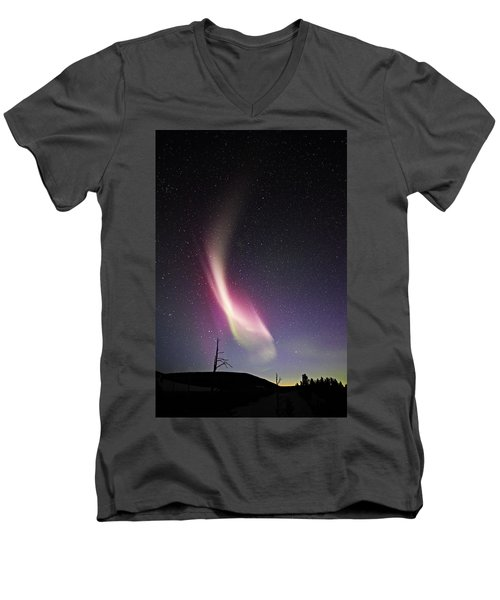 auroral Phenomonen known as Steve 3 Men's V-Neck T-Shirt