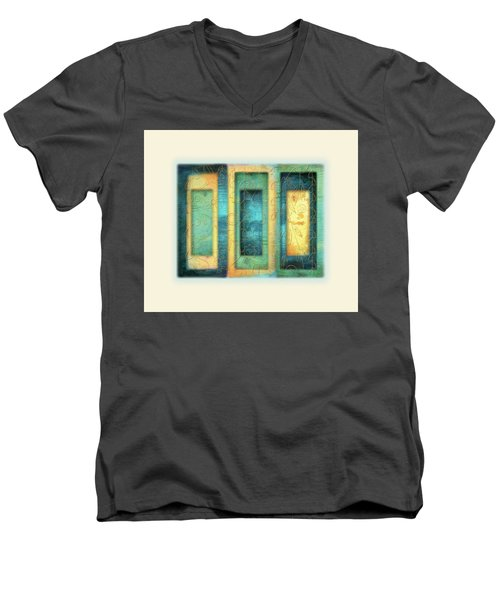 Men's V-Neck T-Shirt featuring the painting Aurora's Vision by Deborah Smith
