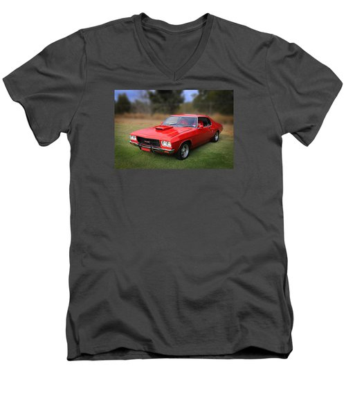 Men's V-Neck T-Shirt featuring the photograph Aussie Muscle by Keith Hawley