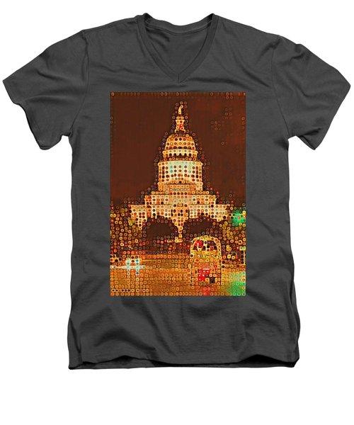 Austin Capitol At Night Men's V-Neck T-Shirt