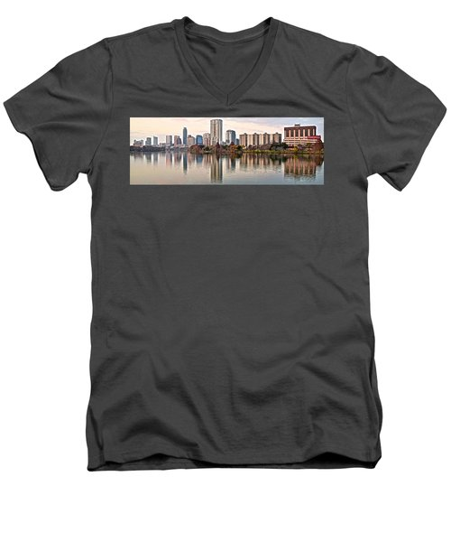 Austin Elongated Men's V-Neck T-Shirt by Frozen in Time Fine Art Photography
