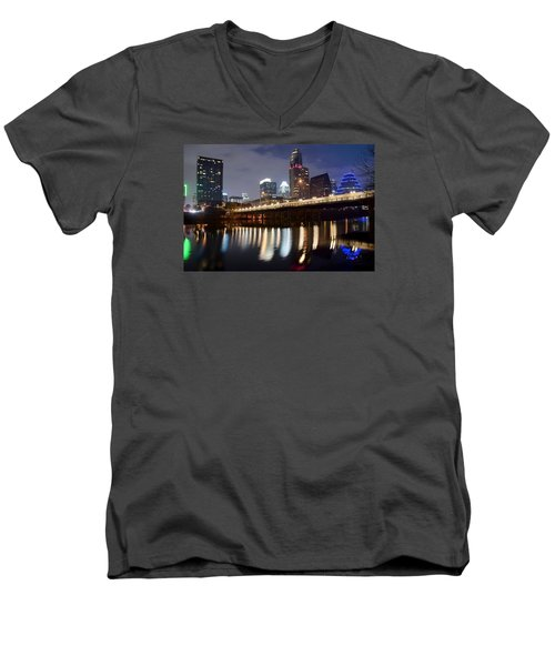 Austin From Below Men's V-Neck T-Shirt by Frozen in Time Fine Art Photography