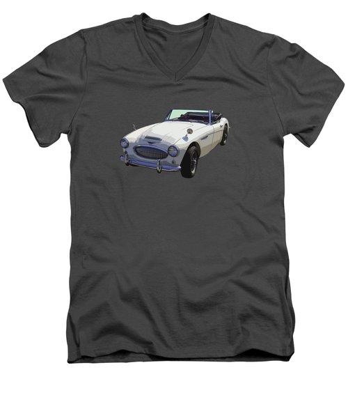 Austin Healey 300 Classic Convertible Sportscar  Men's V-Neck T-Shirt by Keith Webber Jr