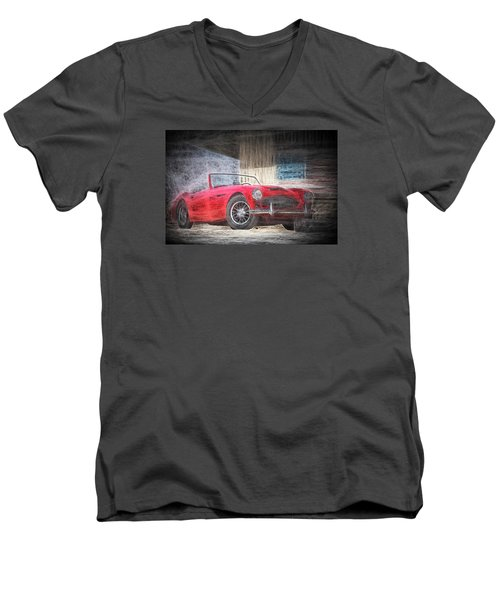 Austin Healey Chalk Study 4 Men's V-Neck T-Shirt