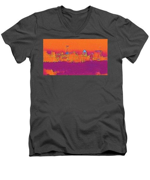 Austin Skyline Electric Men's V-Neck T-Shirt
