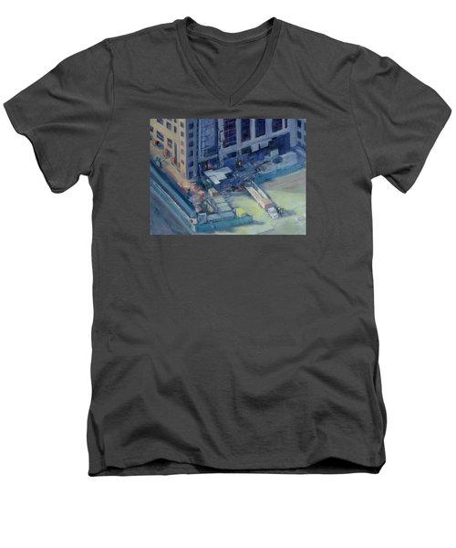 Austonian In Progress Men's V-Neck T-Shirt by Connie Schaertl