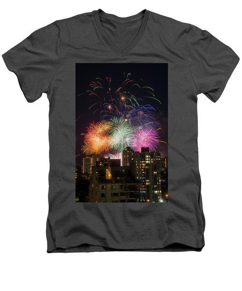 Australia 2 Men's V-Neck T-Shirt by Ross G Strachan
