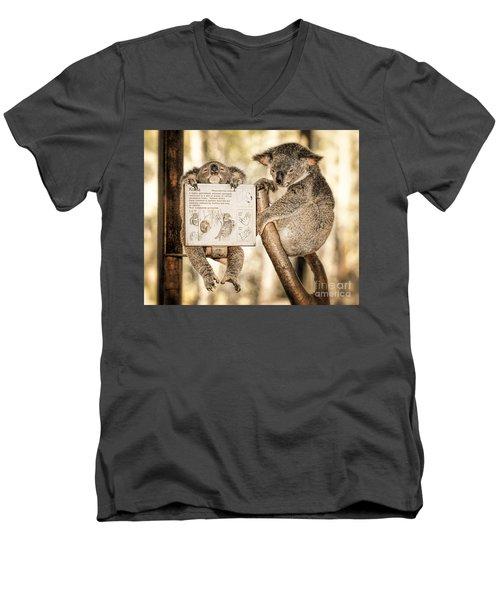 Men's V-Neck T-Shirt featuring the photograph Koala Australia  by Juergen Held