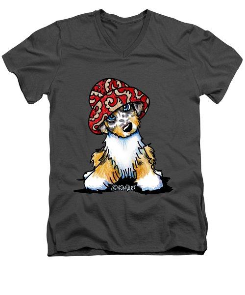 Australian Shepherd Men's V-Neck T-Shirt