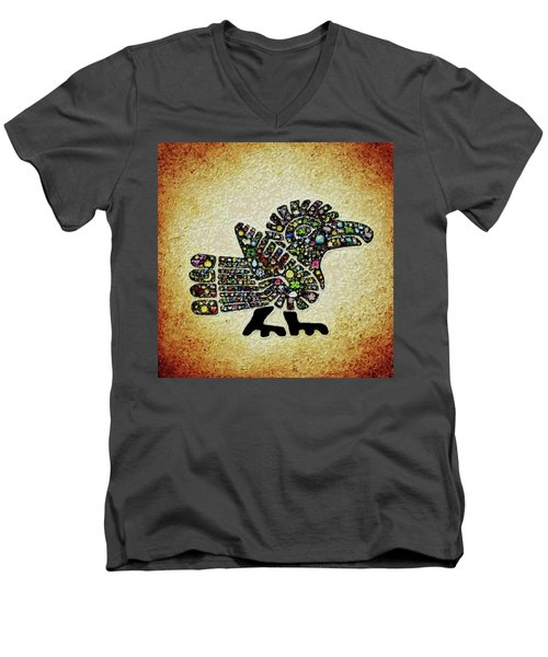 Authentic Aztec Wall Art Men's V-Neck T-Shirt