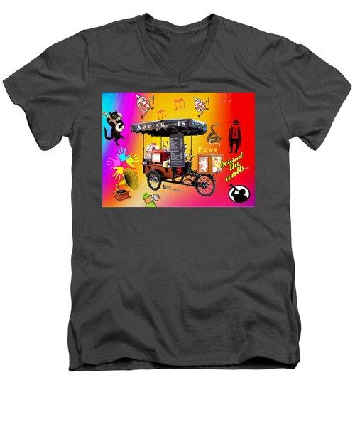 Autism Is Fear Men's V-Neck T-Shirt