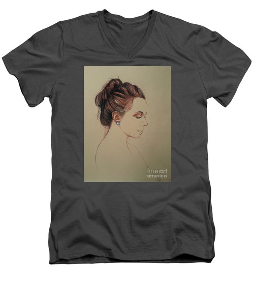 Autoportrait Maja Sokolowska Men's V-Neck T-Shirt by Maja Sokolowska